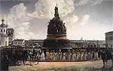 монумент тысячелетие рф в новгороде кто изображен